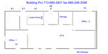 16x60 8x30 modular building floor plan