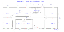 modular office building floor plan