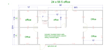 office 2 - 8x30 modular building floor plan